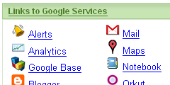 Links to Google Services